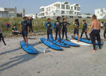 דרום אפריקה – פעילות עם ילדים וגלישת גלים בקייפטאון